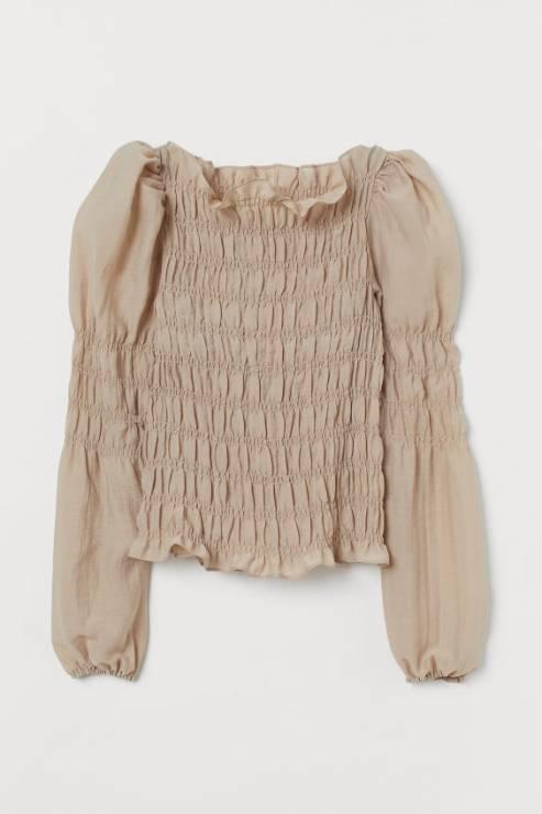 Bluzka z kołnierzykiem H&M 149,99 zł - Trendy moda 2020: ta bluzka to super trend na wiosnę!