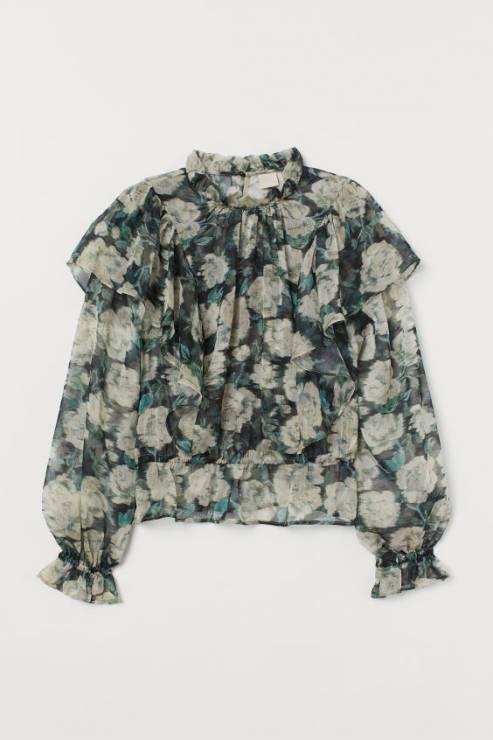Bluzka ze stójką H&M 139,99 zł - Trendy moda 2020: ta bluzka to super trend na wiosnę!