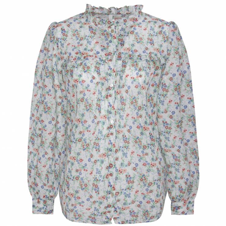 Bluzka ze stójką z falbankami Pepe Jeans - Trendy moda 2020: ta bluzka to super trend na wiosnę!