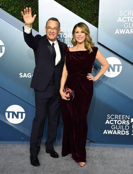 Tom Hanks i jego żona Rita Wilson - Tom Hanks i jego żona Rita Wilson wyszli ze szpitala