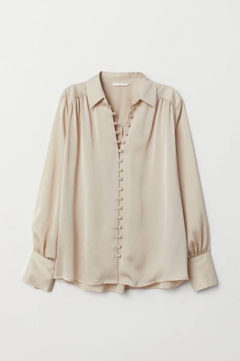 Bluzka z długim rękawem 49,90 zł z 99, 90 zł - H&M wyprzedaż wiosna 2020: 20 rzeczy, które muszą się znaleźć w twojej szafie