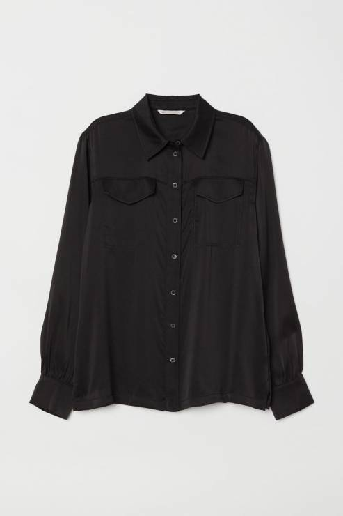 Bluzka z lejącego jedwabiu  139,90 zł z 299,00 zł - H&M wyprzedaż wiosna 2020: 20 rzeczy, które muszą się znaleźć w twojej szafie