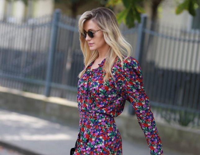 SUKIENKI NA JESIEŃ: Agnieszka Woźniak-Starak zwykle chodzi w spodniach. Dla tej sukienki w kwiaty zrobiła wyjątek!