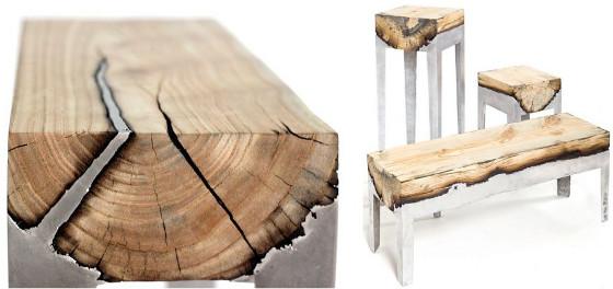 Nowoczesna Aranżacja Wnętrz Wood Casting Furniture Czyli