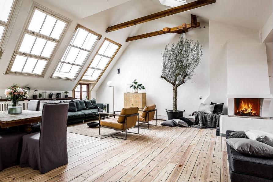 jak urz�dzi� mieszkanie na poddaszu skandynawskie